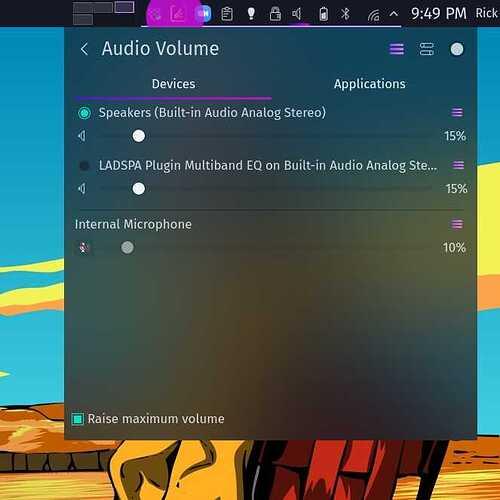 audio adjustment